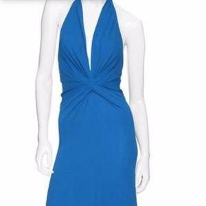 ISSA London Jersey Halter Maxi dress